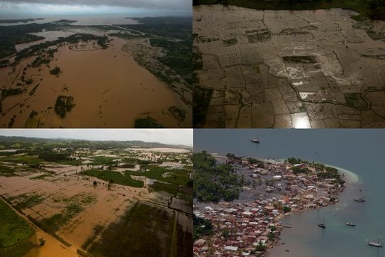 Widespread flooding in Haiti, photo by Haiti Libre