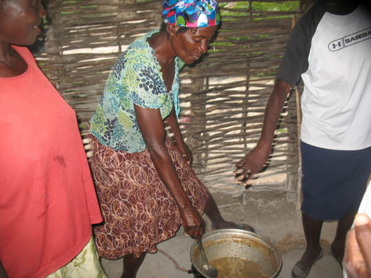 Women using clean cooking methods