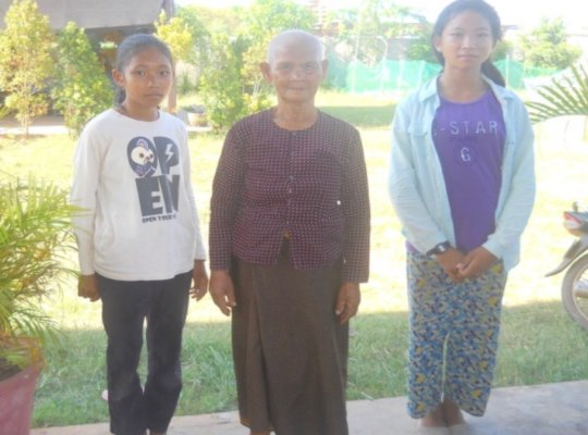 Channa (left) with her grandmother & older sister