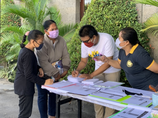 Donation distribution at YKIP office
