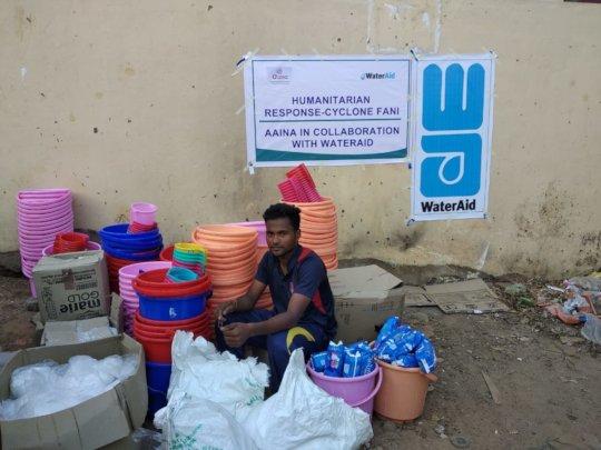 Survival kit being distributed in Bhubaneswar