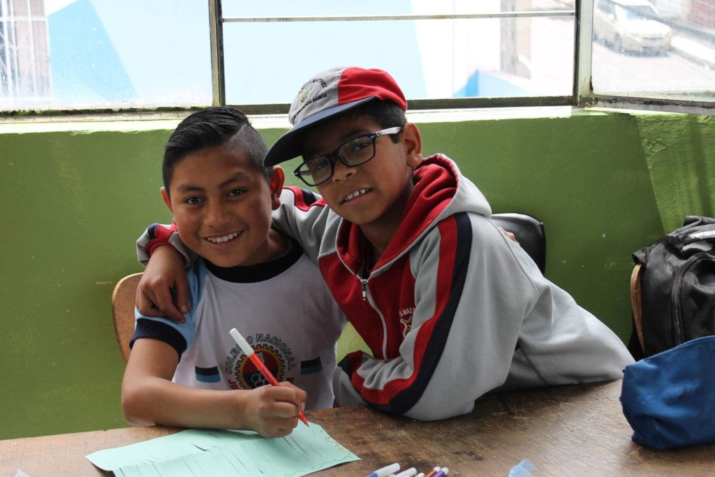 From street to school for 200 children in Ecuador