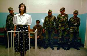 Kurdish Woman Stands Trial. Diyabakir, Ed Kashi