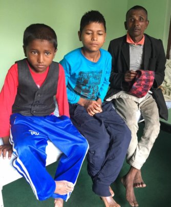 Govindra & Ramlal when they arrived at NHEDF