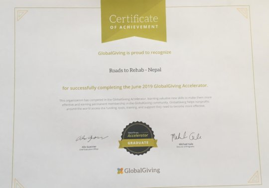 Proof of our GlobalGiving news! Thank you.....