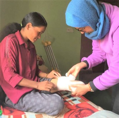 Wound care from NHEDF's wonderful nurses