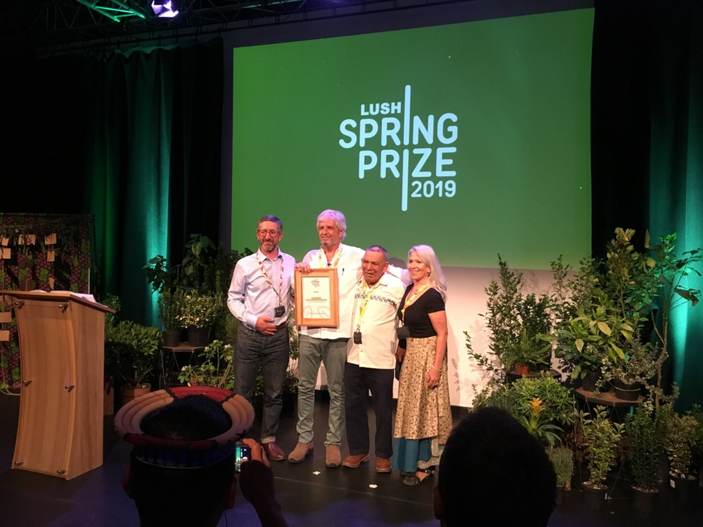 Receiving the Lush-Spring Prize in London
