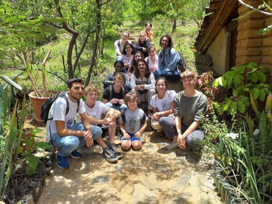 Visit of students from Holland to El Pedregal