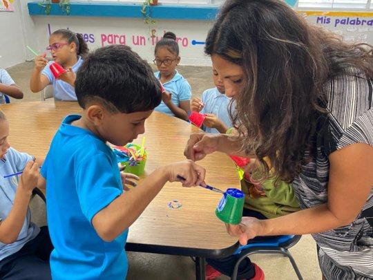 First graders at Luis Llorens Torres