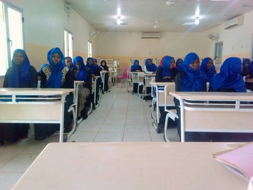 Midwives preparing for final exams