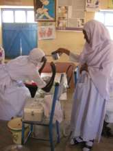 Trainee Midwives at the school