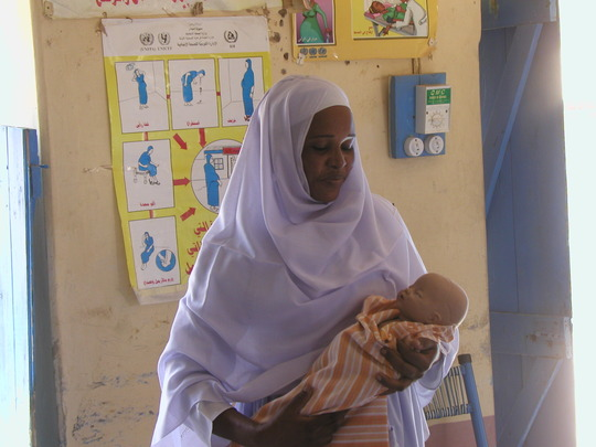Midwife in training