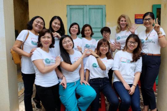 Hue clinic staff, screening women every day!