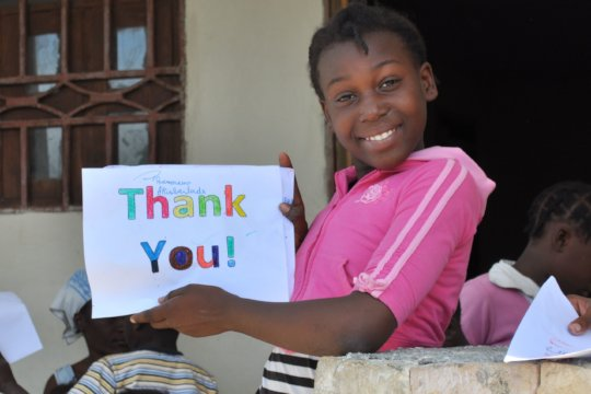 "On behalf of Christelle, ""Thank You!"" so much"