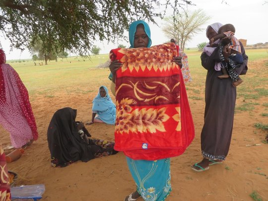 A Kids for Kids blanket delivered to Dor Fazy