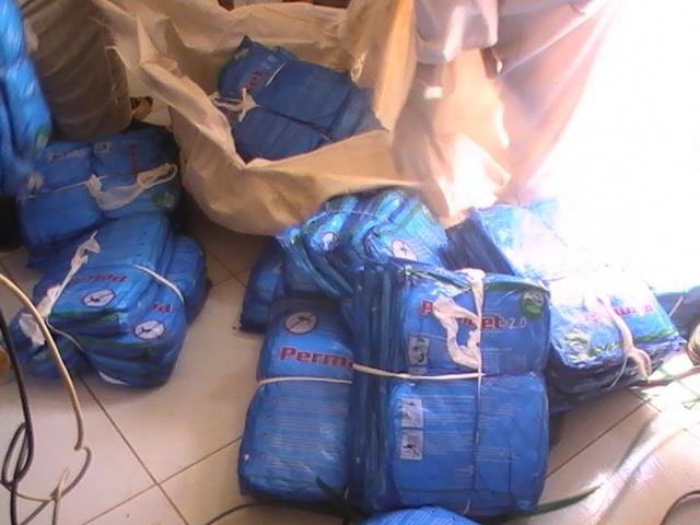 A delivery of new nets to our office in El Fasher