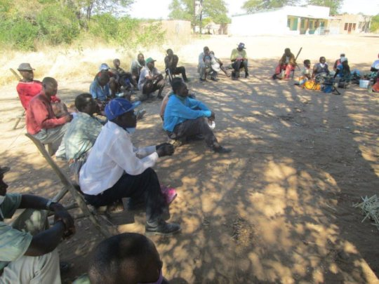Meeting with affected villagers