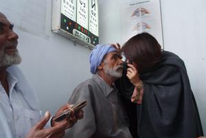 Mushtaq - Being examined at LRBT