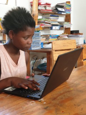 Computer skills at the After school enrichment
