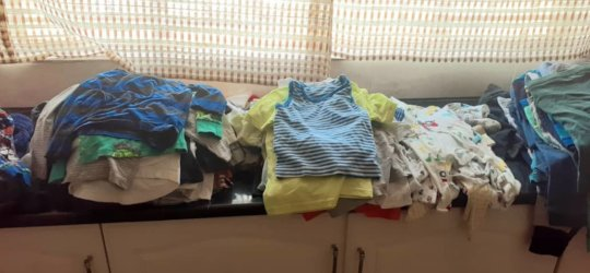 Generous donation of baby clothes