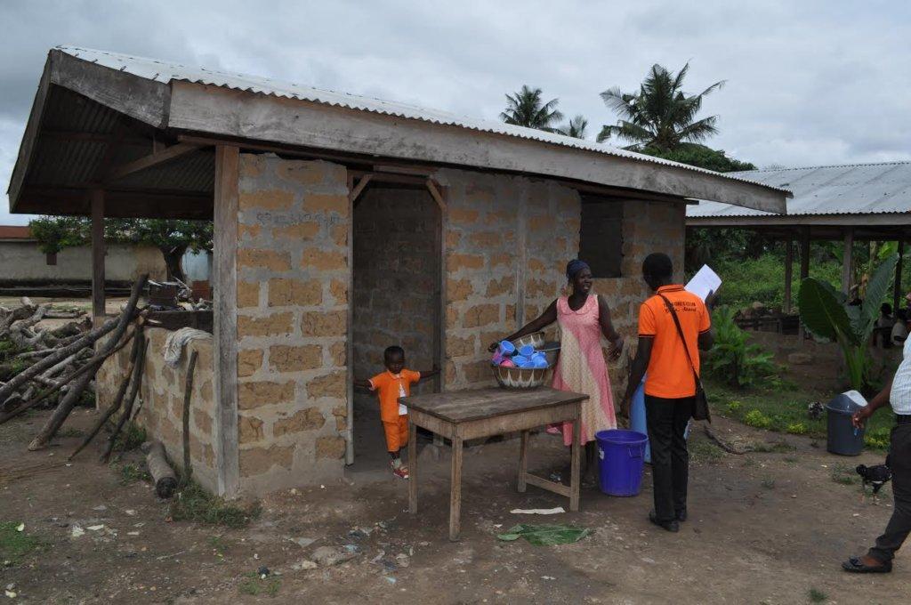 Community members serving Nadit