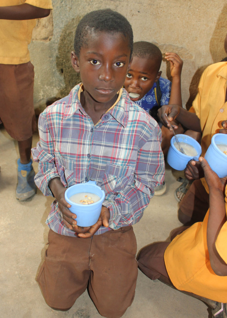 Bedabour D/A students enjoying their porridge