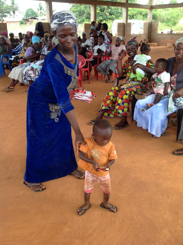 Akosua with Lapope.