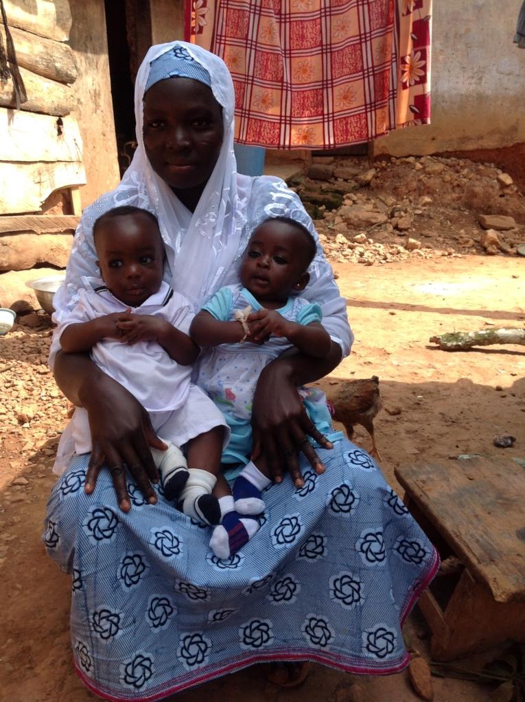 Jamilatu and her twins.