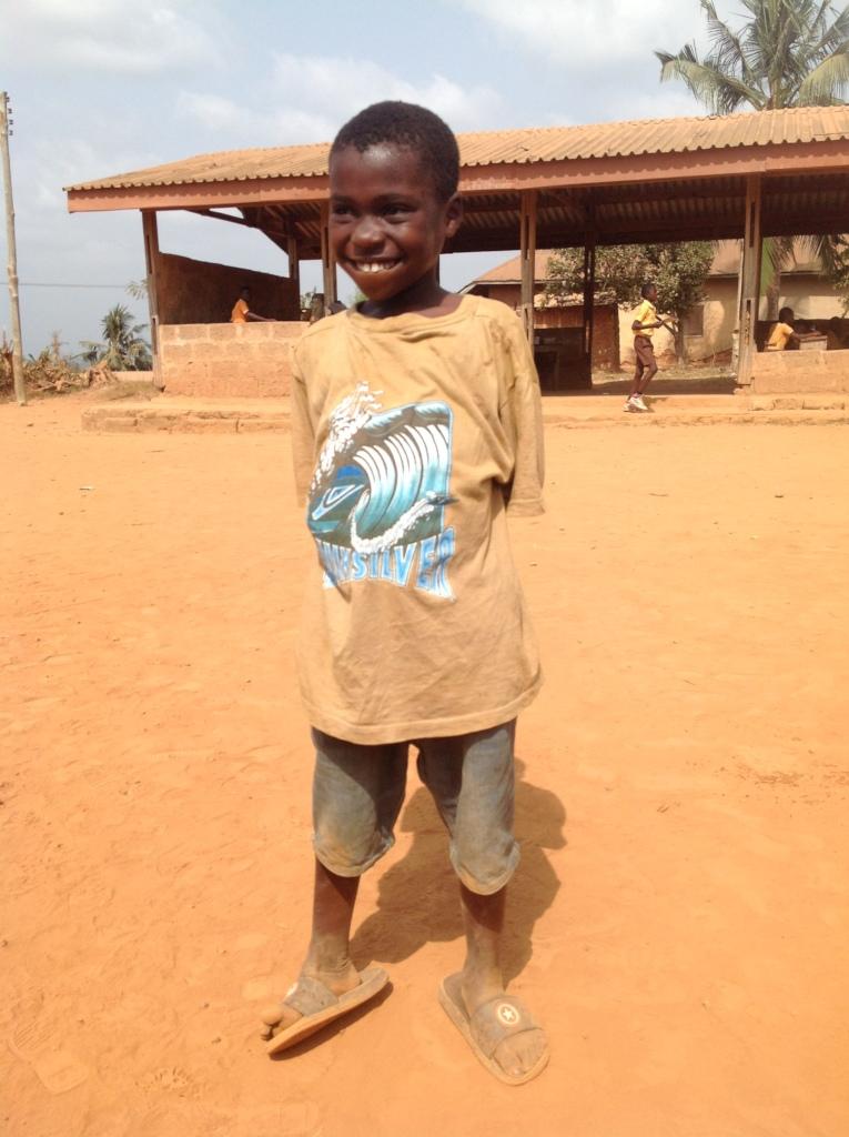 Augustine at Beposo Primary School