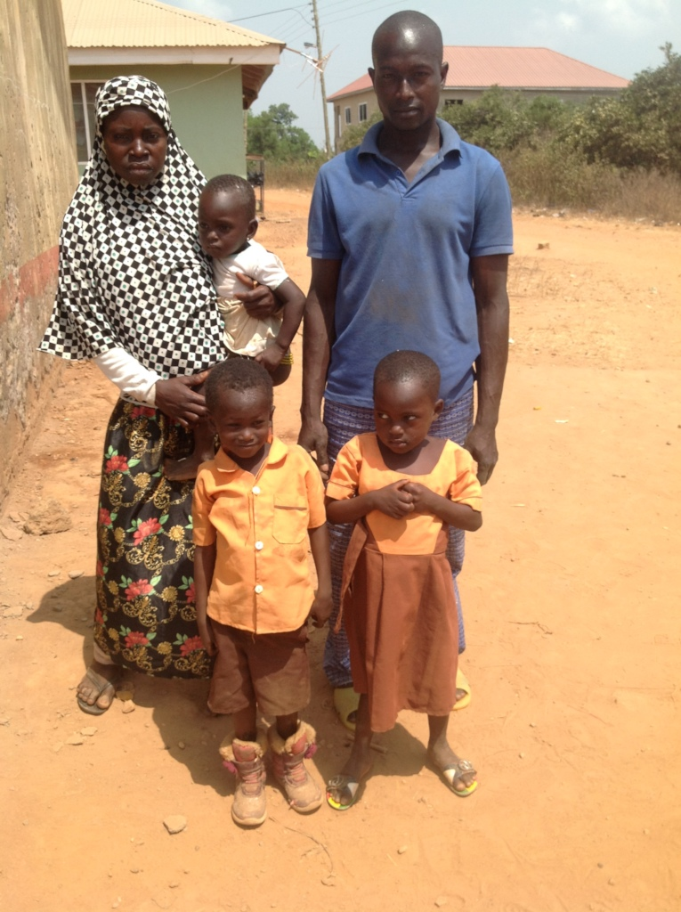 Amidu with with family.
