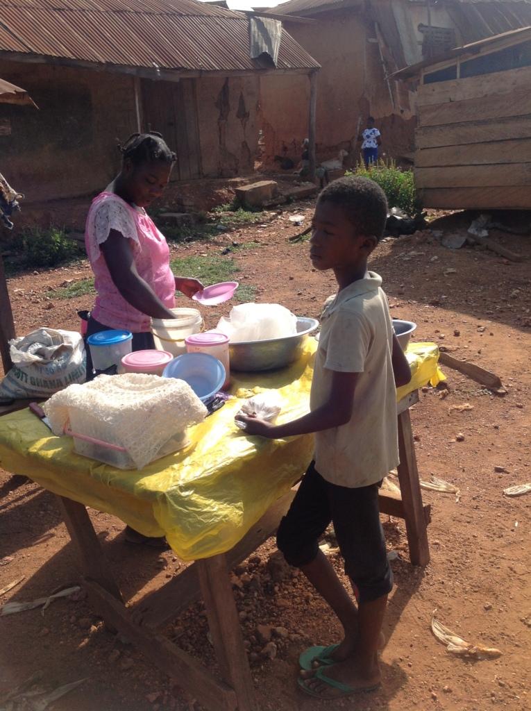 Grace selling kenkey