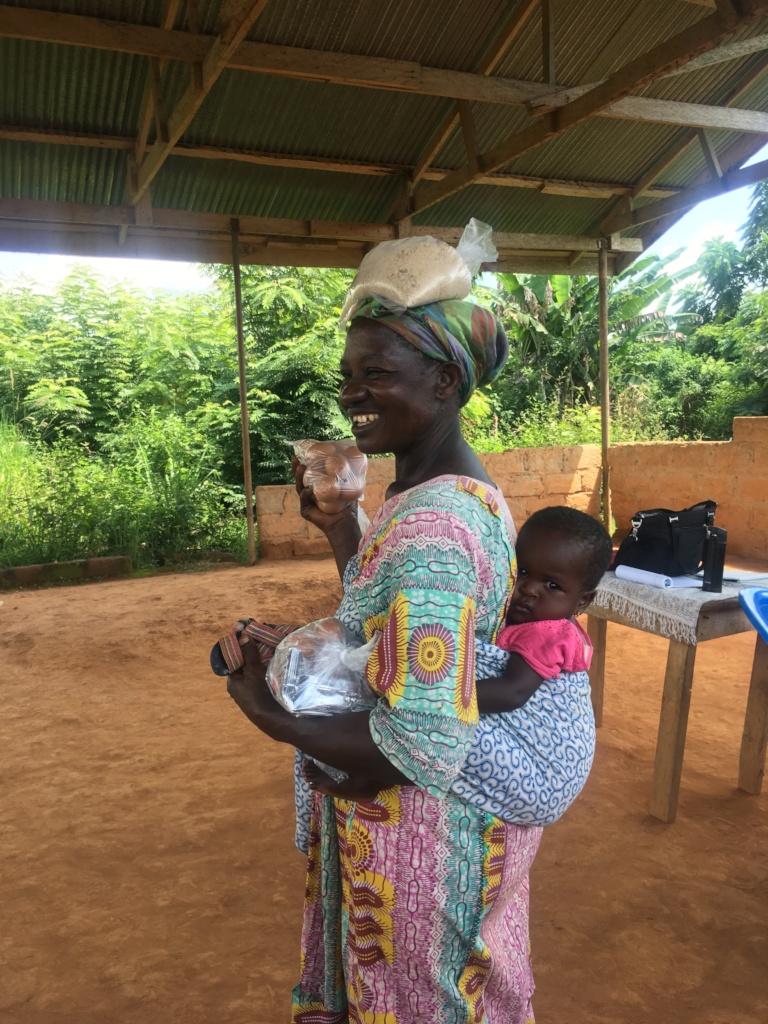 Baby Adwoa and her grandmother.