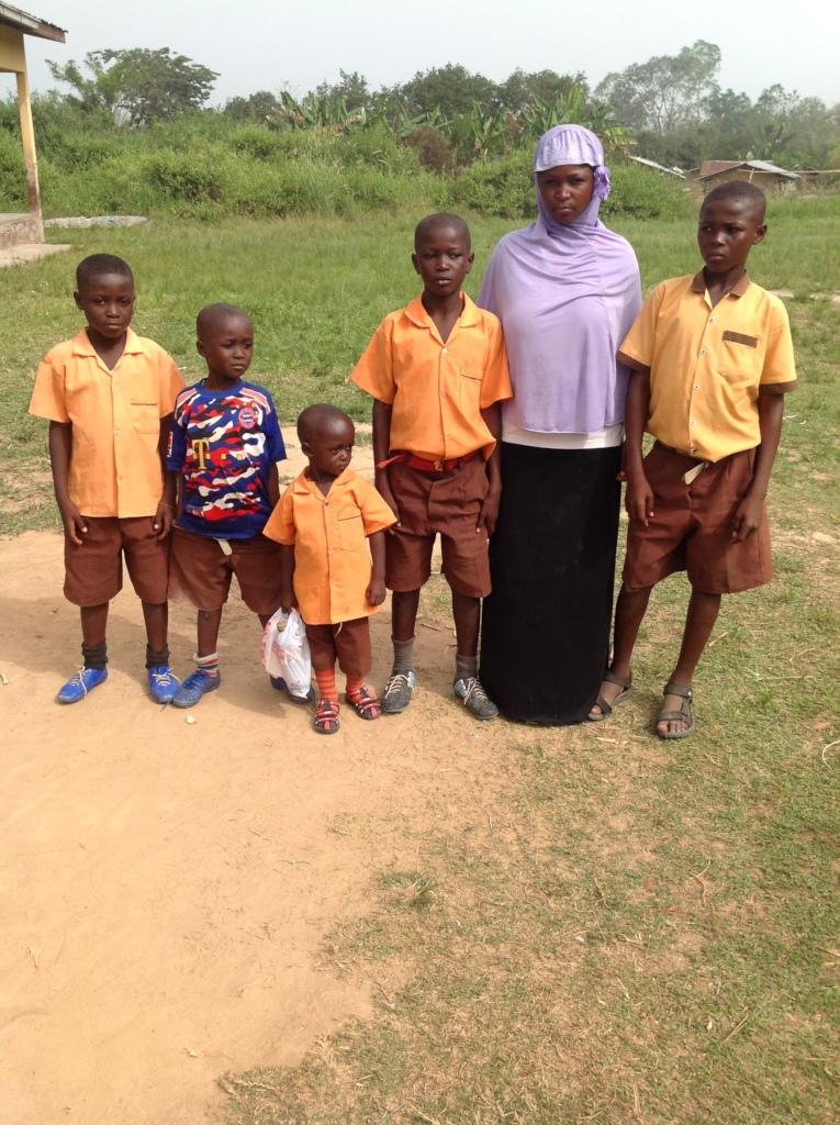 Sawdatu with her children