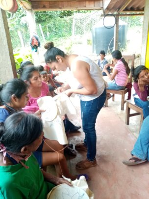 Group of women artisans receiving training