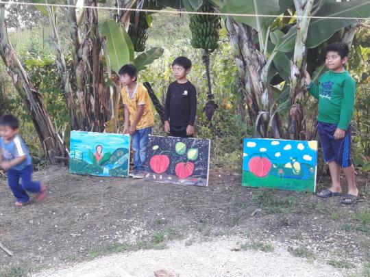 Children painters of Atotonilco