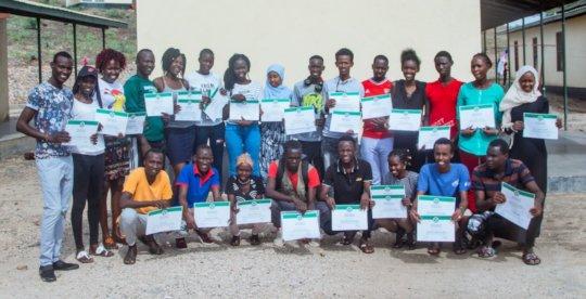Graduates of the Cohort in the Kakuma Refugee Camp
