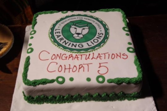 Learning Lions Graduation Cake Cohort 5
