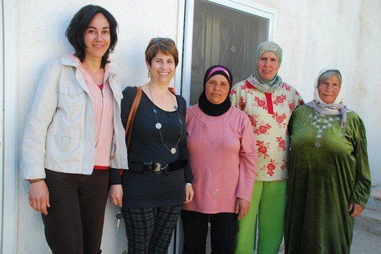 MADRE's Yifat Susskind with Midwives for Peace