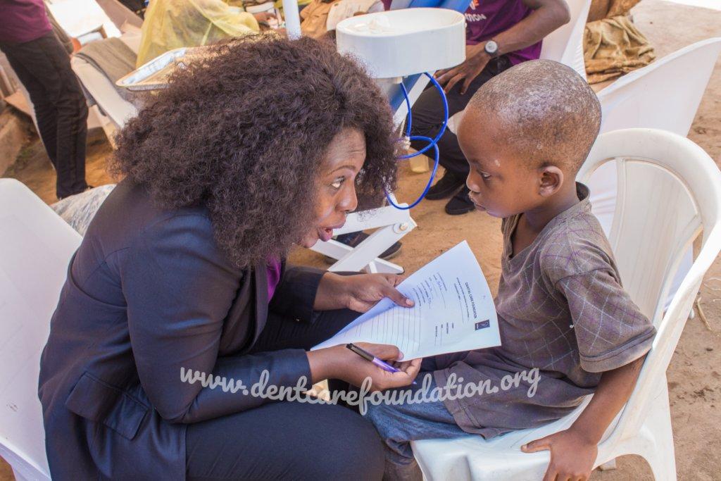 Dr Adekemi Adeniyan and Abdul during examination