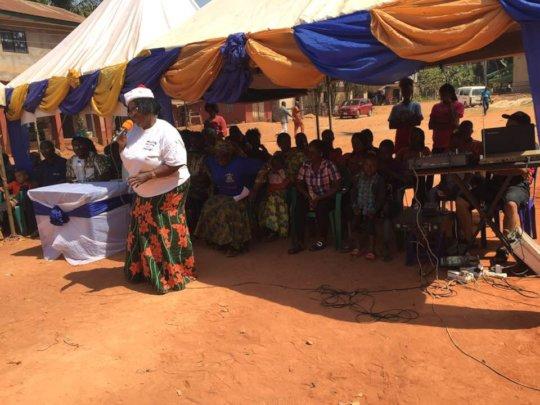 Inwelle Centre Representative Presenting at Ogidi