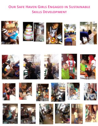 A Collage of Safe Haven Girls' Skills Acquisition