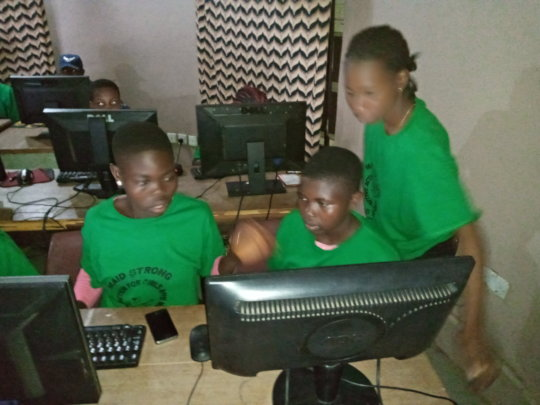 Participants in Computer Word Processing Class