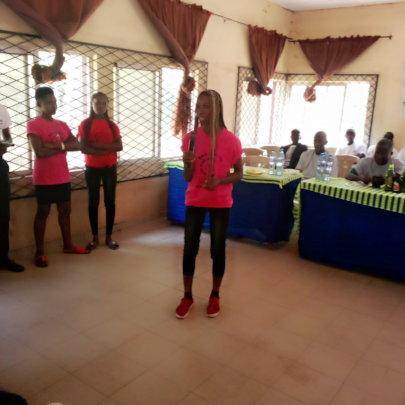 Maid Strong Girl Presenting at Ozalla Ezimo