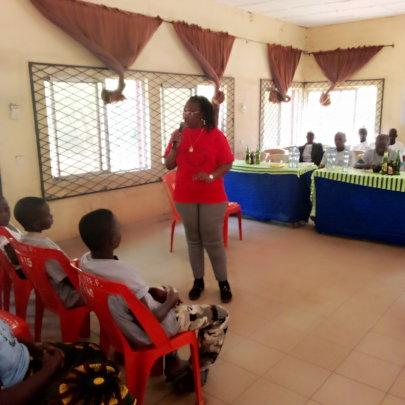 Inwelle Centre Rep. Presenting at Ozalla Ezimo