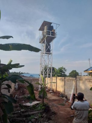 Our bore hole when intact