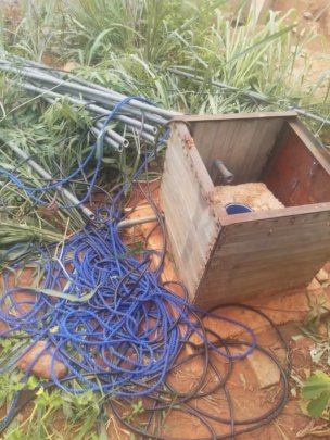 Our bore hole pump chamber looted