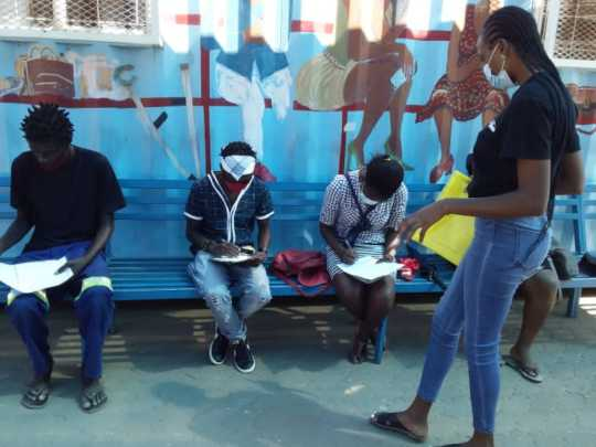 Facilitating in Windhoek informal settlement