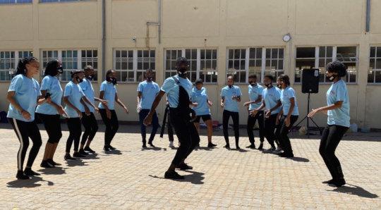 Noordoewer youth group performing