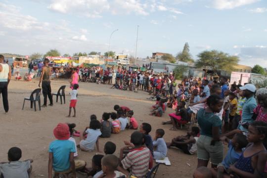 Performing in Katutura Informal settlement
