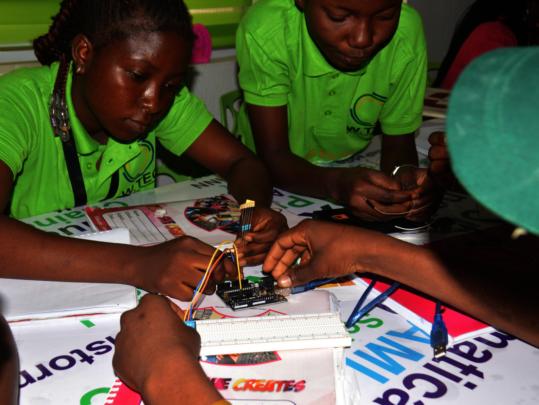 Visit to AI Lab - She Creates Lagos Lekki Camp